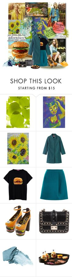 Burger by bouchra-re on Polyvore featuring mode, Toast, Carven, Valentino, Stila, Emile Henry, Chanel and Kate Spade