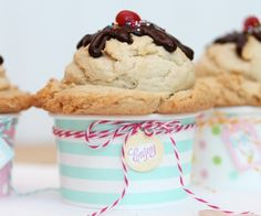 A yummy project I created for TomKat Blog! Click through for tips on making your own | Ice Cream Sundae Cookies by Amber of Damask Love