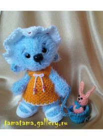 Blue Bear Amigurumi - Free Russian Pattern: http://knitting-for-babies.ru/igrushki/golubaya-mishka