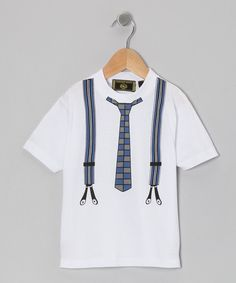 Take a look at this Navy Tie & Suspenders Tee - Infant, Toddler & Boys on zulily today!