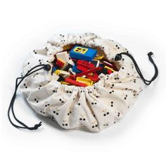 Mini toy storage bag Cherry Play and Go Here is a trendy mini storage bag featuring lovely golden cherries. Kids love to play with their toys Toy Storage Bags, Lego Storage, Kids Storage, Play N Go, Innocent Child, Go Bags, Cotton Bag, Cool Toys, Bag Making