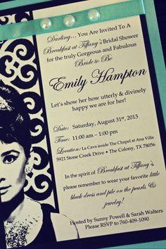 breakfast at tiffany's bridal shower | Breakfast at Tiffany's Bridal Shower | Walters Wedding Estates