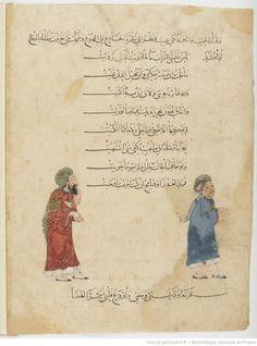 Folio 14 Verso: maqama 05. Abu Zayd admitting his lie