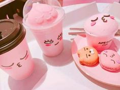 cute and yummy food pink foods, pastel pink и Milk Shakes, Aesthetic Food, Pink Aesthetic, Korean Aesthetic, Cute Food, Yummy Food, Pink Foods, Everything Pink, Pink Love