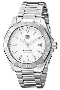 45eb64a9fde Tag Heuer Men s Aquaracer Quartz silver Band Silver Dial Stainless Steel  Bracelet