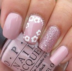 Best Floral Nail art Designs - The most beautiful nail designs Easter Nail Designs, Easter Nail Art, Simple Nail Art Designs, Short Nail Designs, Nail Designs Spring, Spring Design, Easter Color Nails, Best Nail Designs, Floral Nail Art