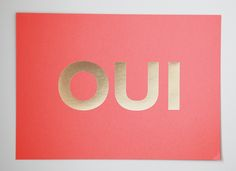 MadeByGirl: OUI Coral Gold