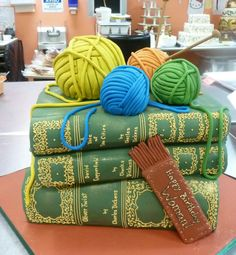 Stack of Books Cake