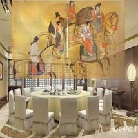 90 inches width Chinese art painting style room screens/bedroom dividers/room roller blinds for home decoration