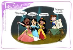 Disney Princess Memes, Disney Jokes, Funny Disney Memes, Princess Cartoon, Disney Cartoons, Funny Princess, Aladdin Princess, Pocket Princess Comics, Pocket Princesses