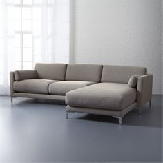 Get comfortable. In fresh colors and classic shades, our modern sectional sofas will breathe new life into any space. Shop the latest looks in sectional couches at 2 Piece Sectional Sofa, Modern Sectional, Modern Sofa, Living Room Sofa, Living Room Furniture, Living Rooms, Furniture For You, Furniture Sets, Furniture Design