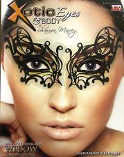 Xotic Eyes Black Widow Eye Mask Self Adhesive Makeup Costume Accessory NEW