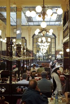 Restaurant Le Bouillon Chartier - Chartier is over 100 years old, and serves budget conscious, unpretentious brasserie style French food in a fantastic fin-de-siècle dining room that is an official listed historic building.