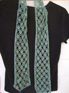 green lace crochet scarflette scarf by DutchDaisyDesign on Etsy, $25.50 #scarf #cotton #green #lace #crochet
