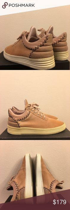 Filling Pieces Pink Suede Sneaker Size 9.5 Bought from official website for $253 Super Limited Winter 2017 Collection Condition 8.5/10 with box and receipt everything Size 9.5 EU43 fits true to size All of my pre-owned sneakers in my listing has been Cleaned by Jason Markk Store with fresh smell:) Fast and free shipping:) Filling Pieces Shoes Sneakers