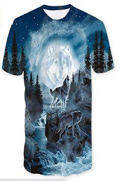Wolf T-shirt, Plus Size T Shirts, Herren T Shirt, Street Chic, Tank Tops, Branded T Shirts, Printed Shorts, Mens Tees, Hooded Sweatshirts