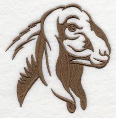 Nubian Goat embroidery design | Hoopla love | Pinterest ...