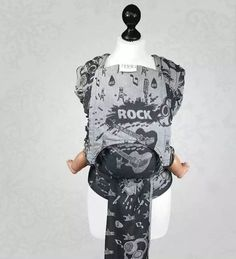 Fidella Fly Tai Rock n Rolla Silver Mei Tai Baby Carrying, Ring Sling, Woven Wrap, Natural Baby, Happy Colors, Rock N, Baby Wearing, Black And Grey, How To Wear