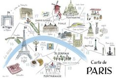Map Of Paris - Alice Tait