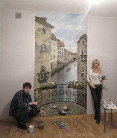 Художественная роспись стен и потолков в интерьере