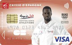 Envie d'avoir une carte bancaire à l'effigie de Kafétien Gomis ? Rendez-vous sur www.caisse-epargne.fr/EspritJO pour la commander ou adressez-vous directement à votre conseiller !