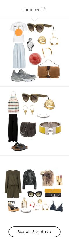 """summer16"" by klara-engholm on Polyvore featuring Topshop, Michael Kors, New Balance, Sarah Chloe, CÉLINE, Yves Saint Laurent, Rick Owens, H&M, Birkenstock and Line&Jo"