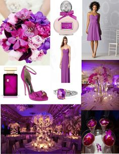 Wedding Trend No 1: Its the year of Purple Reign. Pantones 2014 Color of the Year Radiant Orchid. Loving it