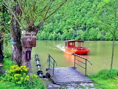 One of several bicycle ferries along the Danube Bike Route