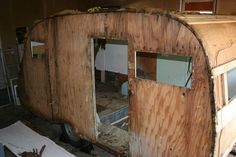 1965 Serro Scotty Sportsman - My girlfriend and I rebuilt this vintage camper. Album sowing steps taken. Scotty Camper, Serro Scotty, Best Pop Up Campers, Old Campers, Shasta Trailer, Camper Trailers, Camper Hacks, Camper Ideas, Small Camping Trailer