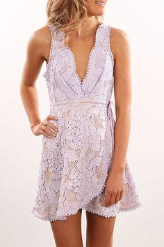 Amanda lace Dress Lavender