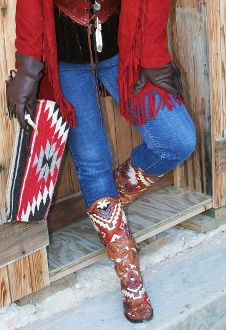 Boots, jeans, country, scarf, christmas cowgirl, country winter