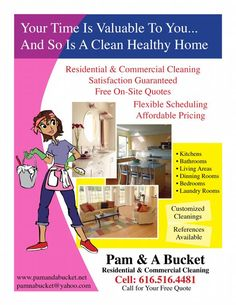 jenny cleaning services flyer cleaning business pinterest