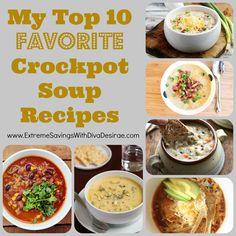 My Top 10 Favorite Crockpot Soup Recipes