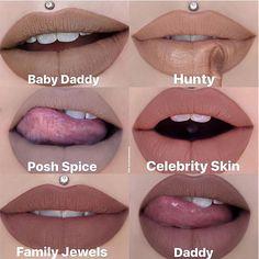 Jeffree Star Swatches, Jeffree Star Liquid Lipstick, Lipstick Swatches, Lipsticks, Star Makeup, Eye Makeup, Jeffree Star Celebrity Skin, Cosmetics Industry, Barbie Life