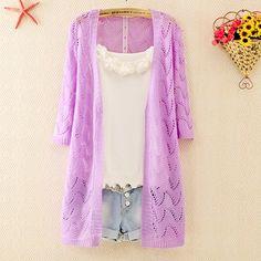 Fabric : Acrylic  Color: yellow , green, purple , beige  Size: standard size ( medium size )  Size : Length 74CM, Sleeve 44CM, Bust 95CM, Shoulder 38CM