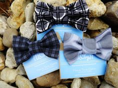 Baby Boy Bow Tie Gray and Black by UtterChaosByJodi on Etsy, $9.00