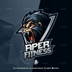 Gorila e-sports mascot logo , best game graphic design, top gaming inspiration ideas by yugoii Gaming Logo, American Logo, Esports Logo, E Sport, Great Logos, Badge Design, Logo Design Inspiration, Design Ideas, Design Reference
