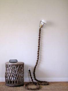 Light Fixtures Strung On Chains by Robert Lewis Studio at Farmshop (Marin), Larkspur Lace Decor, Macrame Projects, Macrame Patterns, Bohemian Decor, Diy Design, Decoration, Light Fixtures, Diy Home Decor, Lights