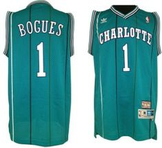 afb0884a84d Charlotte Hornets  1 Muggsy Bogues Green Swingman Throwback Jersey