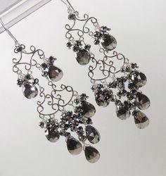 Gold Hoop Chandelier Earrings Wire Wrapped by DoolittleJewelry ...