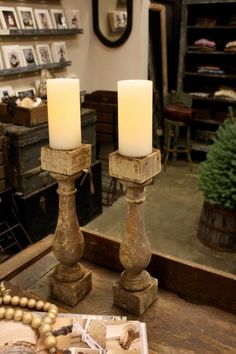 Architectural candle sticks