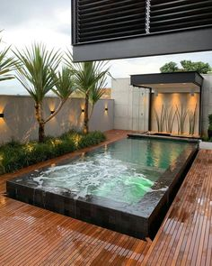 Image may contain: pool and outdoor Small Backyard Pools, Backyard Patio Designs, Small Pools, Swimming Pools Backyard, Swimming Pool Designs, Backyard Landscaping, Backyard Hammock, Lap Pools, Indoor Pools