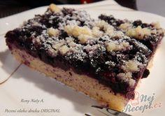 Borůvkový kynutý koláč na velký plech | NejRecept.cz Nutella, Desserts, Fruit Cakes, Food, Hampers, Author, Mudpie, Tailgate Desserts, Deserts