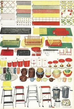I'll take one of each, please! :) #vintage #1950s #kitchen #home #decor