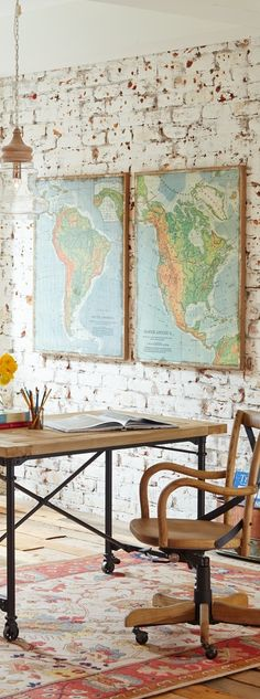 "Celebrate North and South America in a big and beautiful way, with the two-piece ""The Americas"" artwork on your wall."