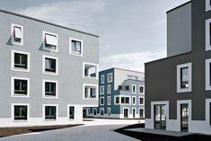 © Klemens Ortmeyer Architecture Visualization, Facade Architecture, Residential Architecture, Arch House, Facade House, Building Facade, Building A House, Exterior Paint Color Combinations, Student House