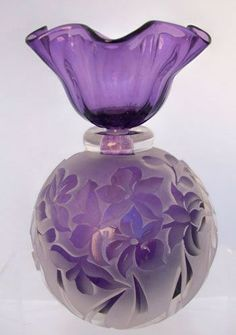 Floral Lilac Perfume Bottle, Westlake Village Gallery