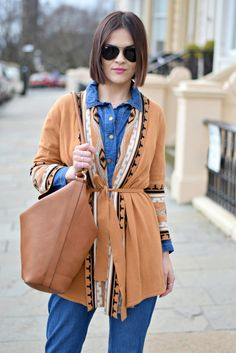 70s Cardigan & Denim