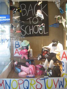 back to school window displays