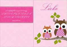 Lettertype voor op uw geboortekaartje: Exmouth Maak uw geboortekaartje via www.geboortepost.nl.